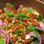 Chick pea, spinach and mint salad