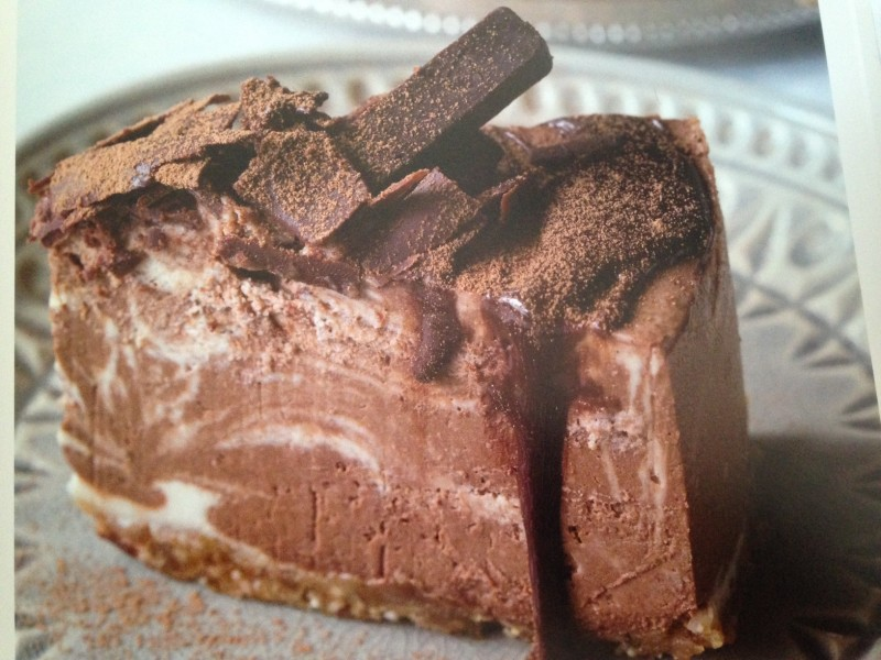 Raw Chocolate swirl cake
