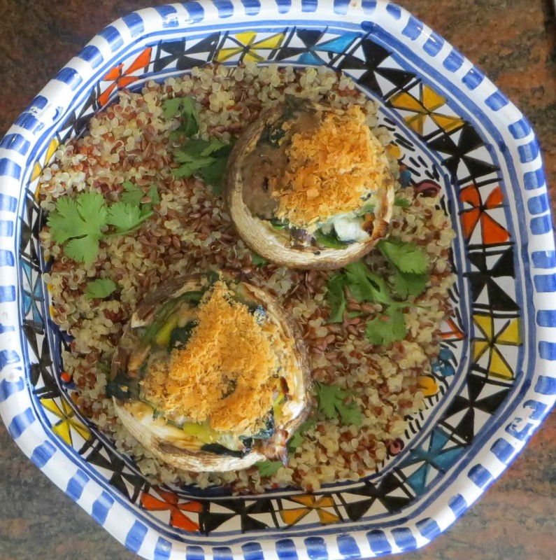 Stuffed mushrooms- dairy free