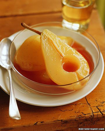 Poached Pears in Ginger