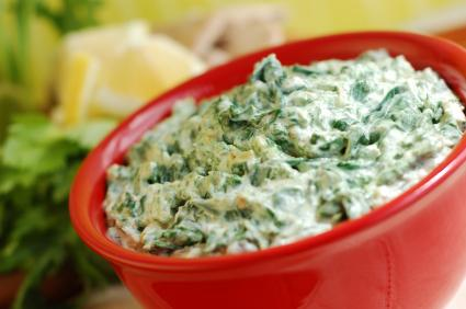 Vegan spinach dip for Thanksgiving photo