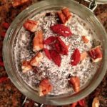 Coconut goji chia pudding